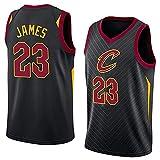 XZWQ Camiseta De La para Hombre, Cleveland Cavaliers # 23 James Fan Jersey Chaleco De Baloncesto Camiseta De Baloncesto De Media Manga Transpirable Camiseta Retro,Negro,XXL