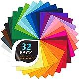 32 Láminas de vinilo, hojas de vinilo adhesivo permanente, con respaldo adhesivo permanente, 25...