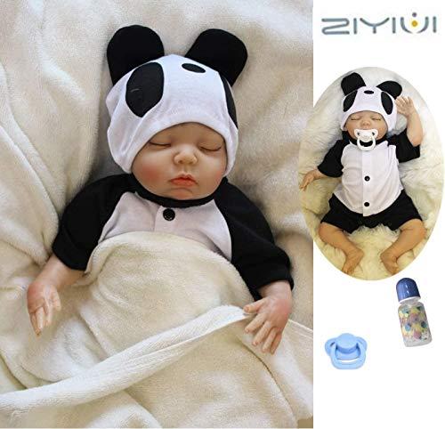 ZIYIUI Reborn Babys Mädchen 18''/45cm Lebensechte Reborn Puppe Weiches Silikon Vinyl Handgemacht Reborn Puppe Junge Mädchen Spielzeug Weihnachts Geschenk