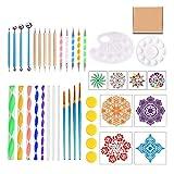 junengSO Manija de Puerta, Mandala Dotting Tools Kit de Pintura Plantillas de Pintura de Puntos de Roca Juego de Herramientas Art Craft Su