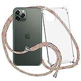 mtb more energy® Collar Smartphone para Apple iPhone 11 Pro (5.8'') - Rainbow - Funda Protectora ponible - Carcasa Anti Shock con Cuerda