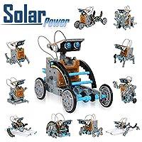 - Kit de robots solaires - 12 en 1. Montez vous-mêmes ces incroyables robots autonomes qui se mettent en mouvement grâce à l'énergie solaire, une énergie propre et inépuisable. - STEM (Science, technologie, ingénierie, mathématiques) JOUET - Grande i...