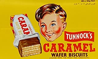 Tunnock's Caramel Wafer Biscuits 30g (Box of 48) by Tunnock's