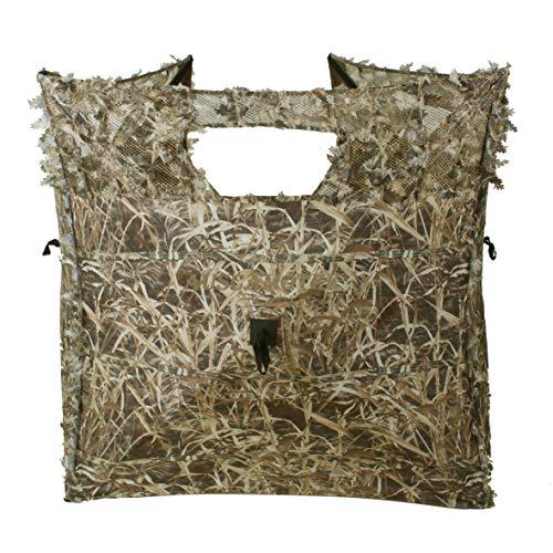 Auscamotek Duck Hunting Pop Up Ground Blind Portable Quick Setup Lightweight Deer Blind 3-Sides Camouflage Tent