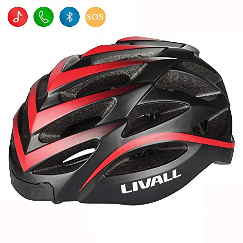 LIVALL BH62 Smart Bling Bike Helmet with Lights LED on The top and Back,Built-in Windbreak...