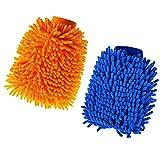 2 PCS de microfibra para lavado de coche, toalla de secado de microfibra para el cuidado del coche, guantes de fideos de microfibra superabsorbentes, guantes de limpieza de coche (color al azar)
