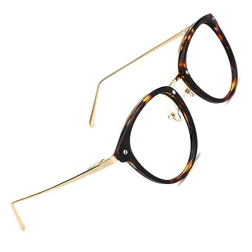 dc651d5bf42 TIJN Round Optical Eyewear Non-prescription Eyeglasses Frame Vintage Eyeglasses  Clear Lens for Women and