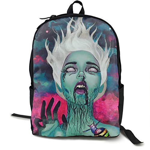Casual Galaxy Goth Gotik Gothic Women Girl Art Backpack Daypack Lightweight Laptop Sackpack One Size for Student & Outdoor Polyester Fabric Durable Strong