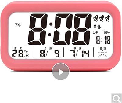 CHAOQUN Despertador Creativo Moda Estudiante de los niños Reloj electrónico cabecera Luminosa Pantalla Dura Reloj Perezoso