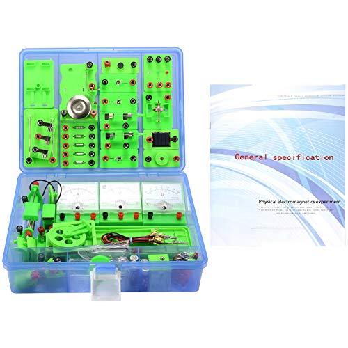 Kacsoo Physics - Kit de iniciación de aprendizaje de circuito eléctrico, laboratorio de ciencias, experimentos básicos de magnetismo de electricidad, kits de preparatoria electromagnetismo