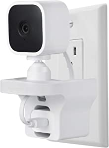 Wasserstein AC Outlet Mount Compatible with Blink Mini - Flexible Mounting Option for Your Home Security Camera (1-Pack, White)