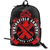 Yaxinduobao Mochila clásica de moda Springfield Armory Casual Backpack Travel Backpack Laptop Backpack