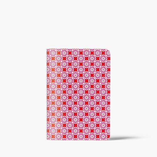 Cuaderno de baldosas, rosa-rojo DIN A6