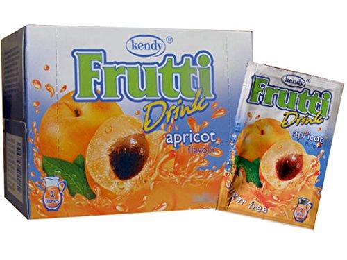 Frutti Instant Getränkepulver ohne Zucker - Geschmackrichtung: Apricot Aprikose 24er Packung