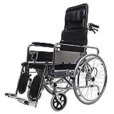 QiHaoHeji Plegables sillas de Ruedas Ligeras Movilidad Sillas de Ruedas for Personas Mayores en Edad Avanzada sin Frenos Silla de Transporte (Color : Multi-Colored, Size : One Size)