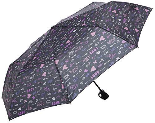 Perletti 12281 Zaden scherpe Paprika Lady Mini 54/8 Aut 3 secten bedrukt Love Paraplu