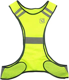 Fluorescent Yellow Orange High Visibility Reflective Vest Safety Equipment Night Shift Night Run (Color : Yellow)