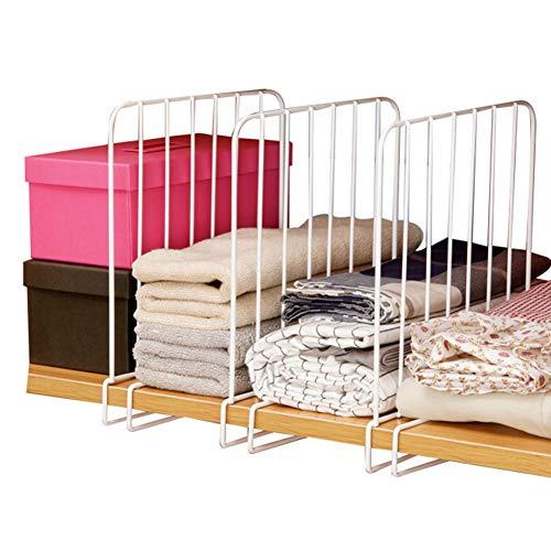 3pcs mensola divisori, vestiti organizer Iron salvaspazio pratico cassetto armadio divisori per mensole, aiuta a sostenere impilati articoli