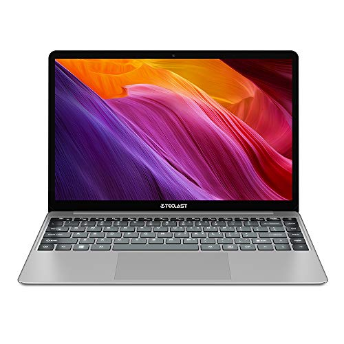 Ordinateur Portable 14.1'' Pouces, TECLAST F7PLUS 8Go RAM 256Go SSD FHD PC Portable Intel Quad-Core N4100 Ultrabook Windows 10 Clavier Rétro-éclairé