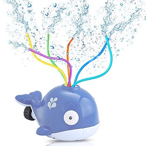 Sunshine smile Juguete de Agua de Rociadores,Juguete de Rociadores,Juegos de Agua para niños Jardin,Jardín de Verano Juguetes para niños Juguetes para rociar Agua (púrpura)