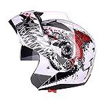Xin Teng Casque de Moto Demi-Casque Écran Solaire Anti-buée Double écran Type de...