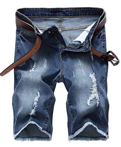 NITAGUT Men's Casual Shorts Jean Denim Short Royal Blue-US 30