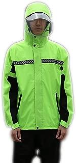 LHY- Raincoat S/M/L/XL / 2XL / 3XL raincoat rain Pants Suit Full Body Split Waterproof Thick Double-Layer Riding Anti-Storm raincoat Convenient (Color : Green, Size : S)
