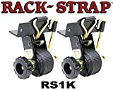Rack-Strap 2 Pack, RS1 Square Black Powder Coated Frame Right Angle Mounting Bracket.