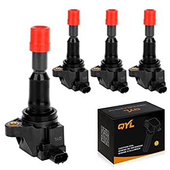 Ignition Coil Pack of 4 Replacement for Honda Fit 2007 2008 UF581 C1578 UF-581 1.5L L4