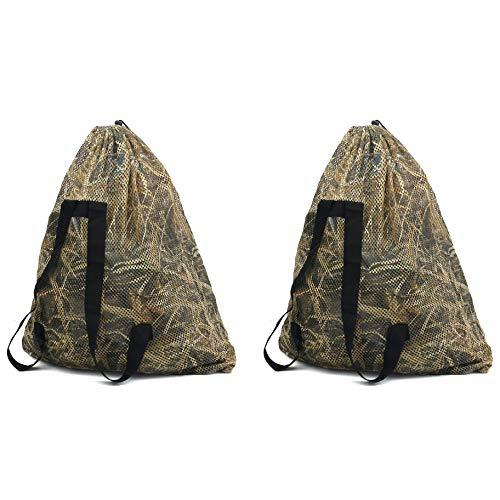 Auscamotek Duck Decoy Bags with Camouflage Blind Mesh Goose Turkey Decoy Backpacks Medium(2 Pack)
