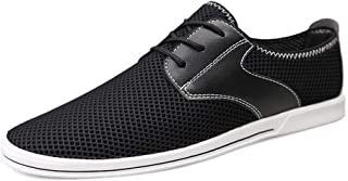 ZUAN Gymnastic Shoes Men Fashion Sports Shoes Mesh Cloth Everyday Youth Trend Simple Lace Up with Flexible Outsole