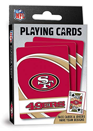 """MasterPieces NFL San Francisco 49ers Playing Cards, 2.5"""" x 3.5"""""""