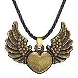 ShZyywrl Collar De Joyas Regalos para Aniversario Cumpleaños De La Madre Collar Collar con Colgante De Cabeza De Cuervo con Escultura