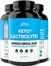Keto Electrolyte Supplement - Electrolytes and Trace Minerals for Low-Carb Keto Diet - Leg Cramp Relief, Hydration, Energy, Ketosis - Sodium, Potassium, Magnesium, Calcium - Keto Friendly Pills 120ct