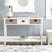 Safavieh Winifred White Storage Console Table with Storage