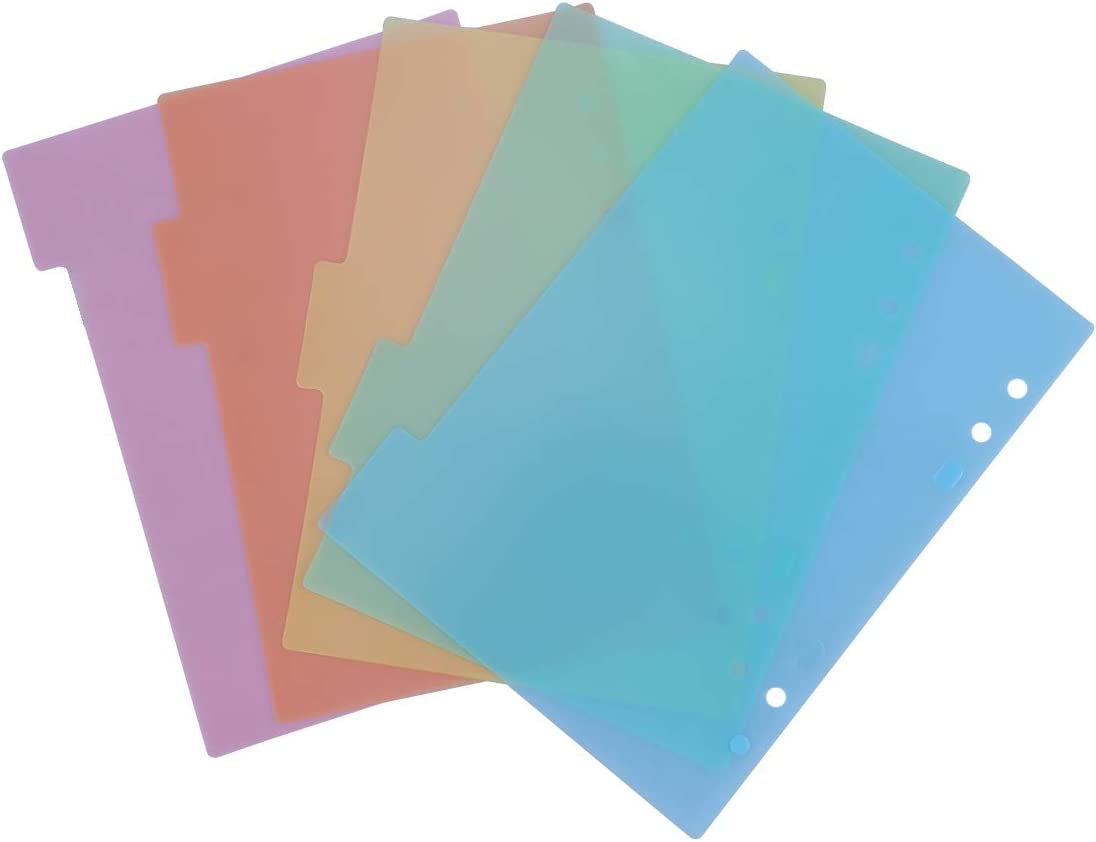 TOYMYTOY A5 Luxury goods Dividers Colored Planner Page Index Divider Some reservation for Tab