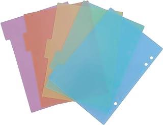TOYMYTOY Intercalaires A5, intercalaires colorés, onglets pour carnet de notes, 10 feuilles