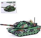 Set de Construcción Modelo de juguete de bloque serie militar 1:32 tanque de batalla principal de leopardo alemán para niños, 1043 partículas, juguetes educativos para niños mayores de 8 años