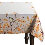 Maison d' Hermine Oak Leaves 100% Cotton Tablecloth for Kitchen Dining | Tabletop | Decoration | Parties | Weddings | Thanksgiving/Christmas (Rectangle, 54 Inch by 72 Inch)