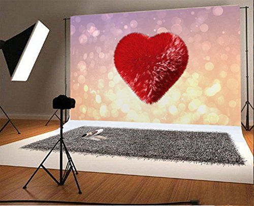 CSFOTO 5x3ft Valentines Day Backdrop Pink Wall Loving Heart Banner Photography Background Bridal Shower Birthday Party Lover Kids Girl Portrait Photo Booth Props Studio Video Shoot Wallpaper