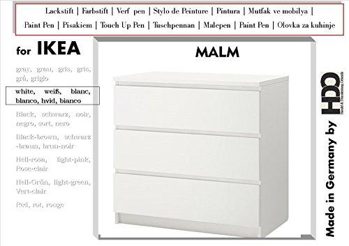 HDO Farbstift Lackstift Touch-Up-Pen for IKEA Malm White