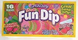 Springtime (1 Box) Lik-M-Aid Fun Dip - Wonderous Watermelon & Strawberry Licious Flavors - Easter Candy Basket Stuffer - Net Wt. 0.43 oz / 12.1 Per Pouch (16 Pouches)