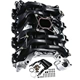 A-Premium Upper Intake Manifold with Thermostat Compatible with Ford Crown Victoria Mustang Explorer Lincoln Town Car Mercury Grand Marquis Mountaineer 2001-2011 (V8 4.6L Only)