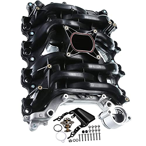 A-Premium Upper Intake Manifold with Thermostat & Gaskets Replacement for Ford Crown Victoria 2001-2011 Explorer Mustang Lincoln Town Car Mercury Grand Marquis Mountaineer V8 4.6L 615-175