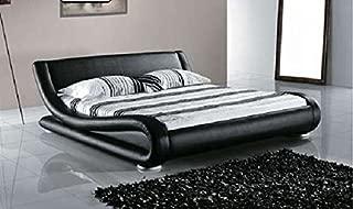 Greatime B1070 Eastern King Black Comtemparay Upholstered Bed