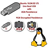 linux ubuntu 18.04 live boot sistema operativo usb con 4 gb di persistenza e 9 gb di crittografia di persistenza