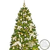 Busybee Albero di Natale di 180 cm con 240 luci a LED e Ornamenti di 110 Pezzi Decorazioni...