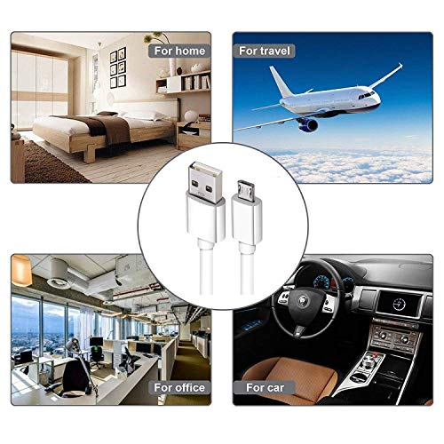 ShopsGoods USB Cable for Honor 9 Lite USB Cable | Micro USB Data Cable | Quick Fast Charging Cable | Charger Cable | Transfer Android V8 Cable (2.4 Amp, 1 M, White)