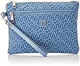 YNOT Gu0343/pe18, Borsa a Tracolla Donna, Blu (Jeans), 2x17.5x25 cm (W x H x L)