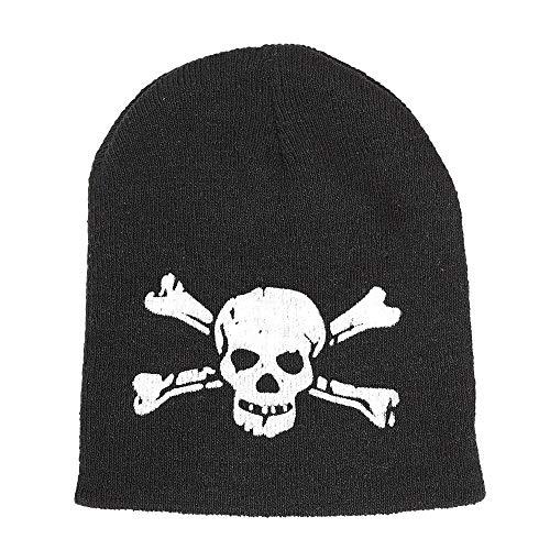 Widmann ? Bonnet tête de mort avec os croisés Mens, noir, taille unique, vd-wdm08176